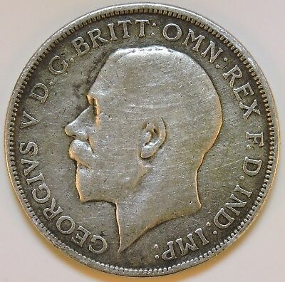 1914 Silver Great Britain One Florin - K106