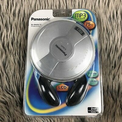 NEW Panasonic SL-SX470 Portable CD MP3 Player In Package Headphones LCD Display