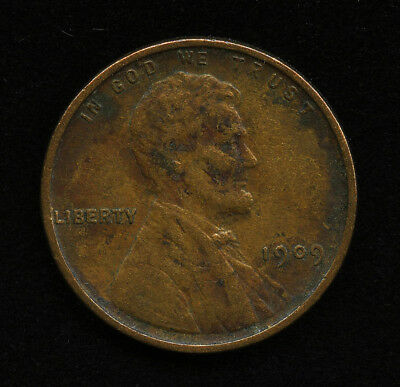 1909 US 1c LINCOLN ONE CENT PENNY 1st YEAR TYPE COIN XF EXTRA FINE EF DETAILS