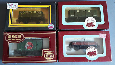 Dapol/airfix Uk Goods Wagons X 4 Very Good Condition Boxed Oo Gauge(Fx 9)