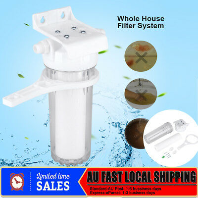 "Whole House Water Filter System 10"" + Housing Wrench and Bracket Replecement"
