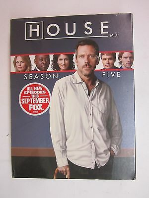 New! House: Season Five (DVD, 2009, 5-Disc Set)- Hugh Laurie - BRAND NEW  SEALED