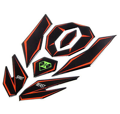 Reflective 3D Motorcycle Sticker Gas Fuel Tank Protector Pad Cover Soulkeeper 3#