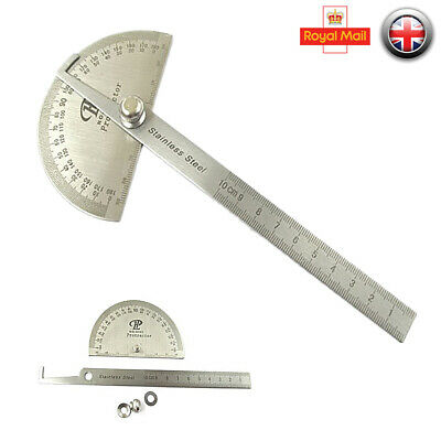0-180 Degree Stainless Steel Protractor Arm Measure Ruler Angle Finder Gauge cck