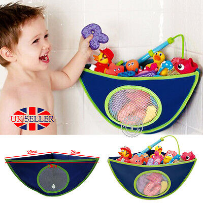 Kids Baby Bath Toy Tidy Organiser Mesh Net Storage Bag Peli Play Pouch Holder