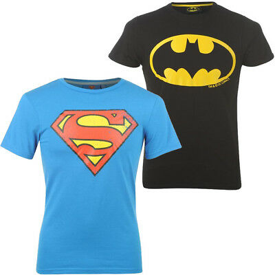 Men's DC Comics Batman Superman Logo Emblem T-Shirt S M L XL 2XL 3XL 4XL NEW