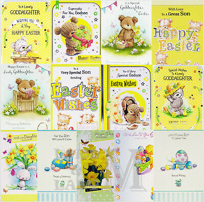 Son / Daughter / Godson / Goddaughter Easter Card - Various Designs Available