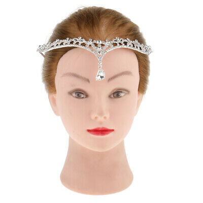 Crystal Rhinestone Head Chain Hair Band Headpiece Forehead Headband Jewelry