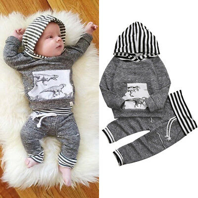 AU Newborn Kids Baby Boys Clothes Hoodies Tops T Shirt Coat Leggings Outfits Set
