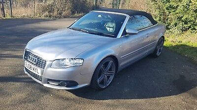 Immaculate Audi A4 S-Line Convertible 2008 2.0L Tdi Low Miles 85K Fully Serviced