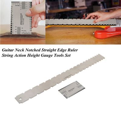 Guitar Neck Notched Straight Edge Luthiers Tools Guitar Fretboard Ruler Kit Set