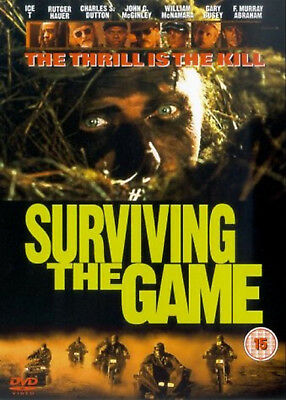 SURVIVING THE GAME DVD Rutger Hauer Ice-T Ernest Dickerson UK Rel New Sealed R2