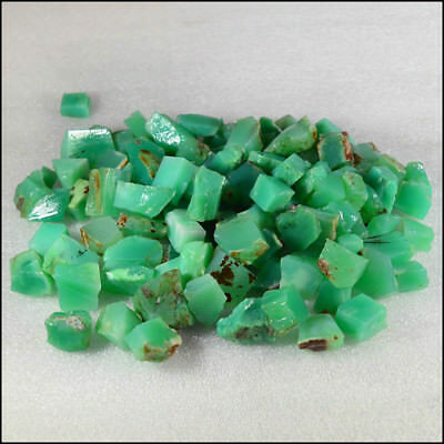 Natural Chrysoprase Rough for Cabbing Lapidary Partially Work gemstones lots