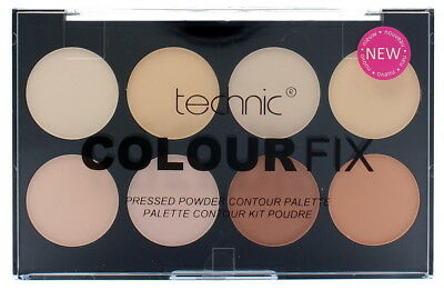 Technic Colour Fix Pressed Powder Colour Contour Palette Shine Control 8