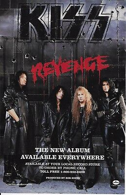 Vintage 1992 KISS print AD REVENGE album Mercury w/ Disney Frankenweenie on back