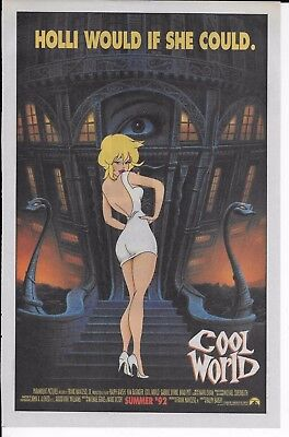 Vintage 1992 COOL WORLD PRINT AD Animated movie promo / Top Gear SNES Shift