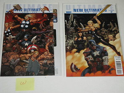 Lot of 2 MARVEL Ultimate New Ultimates: Issue 1 & 2 Comic Books Plastic Cover