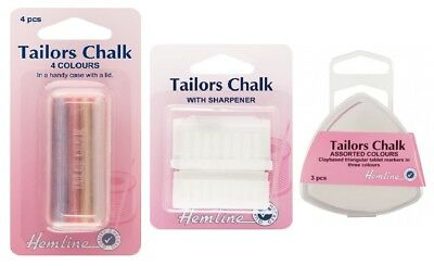 Hemline Tailors Chalk Dressmakers Sewing Marker Assorted Colours Multi Pack
