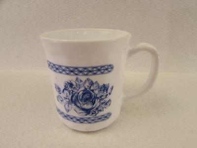 Honorine by Arcopal Cup Blue Floral Band Design Scalloped b107