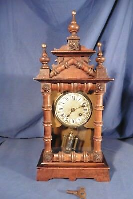 Antique Early Black Forest Pendulum UCC Clock - working