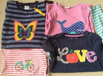 girls mini boden 7-8 spring summer bundle tops t-shirt cashmere dress vgc