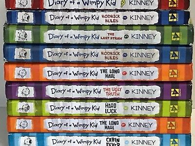 5 Diary of a Wimpy Kid - childrens books lot/sets - hardcover/paperback