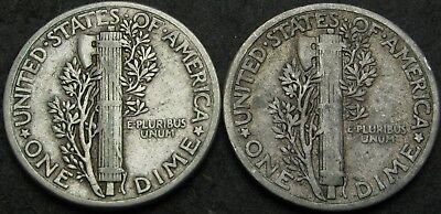 UNITED STATES 1 Dime 1934/1942 - Silver - 2 coins - 3719 ¤