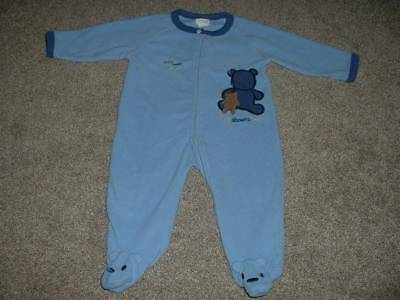 Carter's Baby Boys All About a Bear Blue Fleece Pajamas Size 6-9 months mos