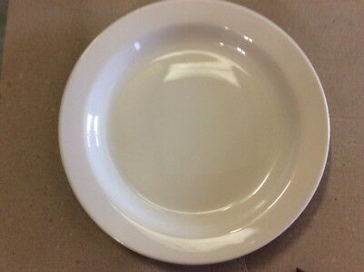 """12 x White Narrow Rimmed Plate 8"""" Plates Professional Hotelware BS4034 Joblot"""