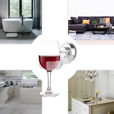 Bathroom Wine Glass Holder Home Kitchen Bath Bathroom Stemware Suction Cup Rack@