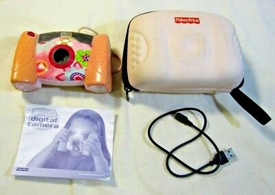 Pink Fisher Price Kid Tough Digital Camera Pink Flower Print - Tested & Works