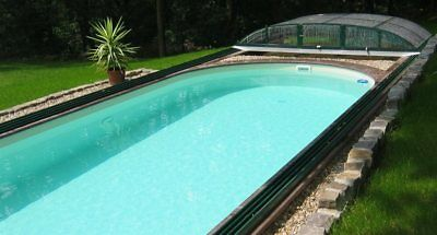 Pool Set oval komplett Folie sand Swimmingpool Stahlmantel Ovalpool Stahlwand