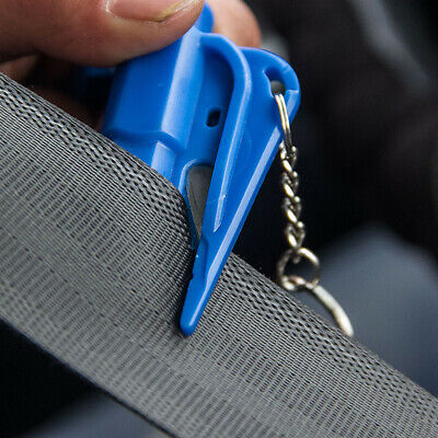 Portable Car Escape Rescue Tool Key Chain Window Glass Breaker& Seatbelt Cutter