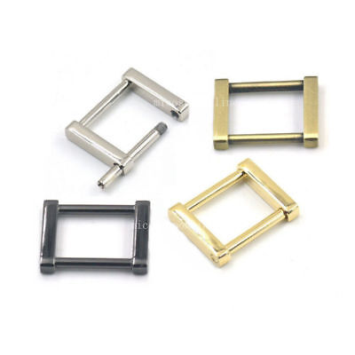 """1"""" 25mm Rectangle Dee Ring Detachable Removable Webbing Buckles Strap Square"""