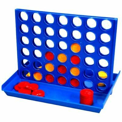New Connect 4 In A Row Four In A Line Board Game Family Fun Take On Trip Mini UK
