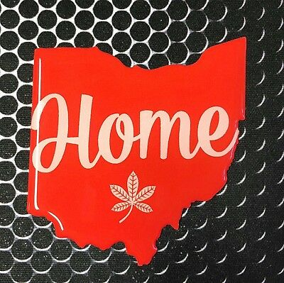 """Ohio HOME Sticker Proud OHIO STATE Domed Decal Emblem Car Sticker 3D 2.7""""x2.9"""""""