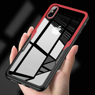 For iPhone X 8 7 6S+ Case Cover Shockproof Hybrid Armor Hard Clear Back Silicone