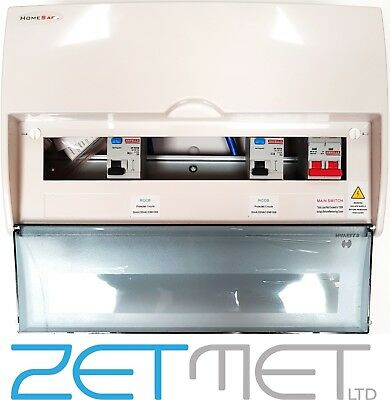 Havells Hshi12 Insulated 12 Way Consumer Unit 63A Rcd High Integrity Homesafe