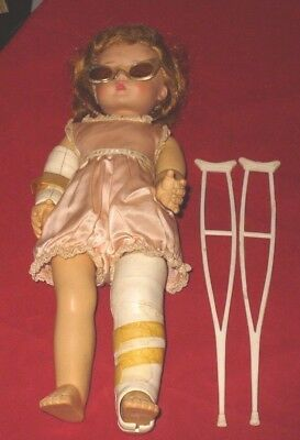Madame Alexander Marybel Get Well Doll,  Romper, Some Accessories, Crutches