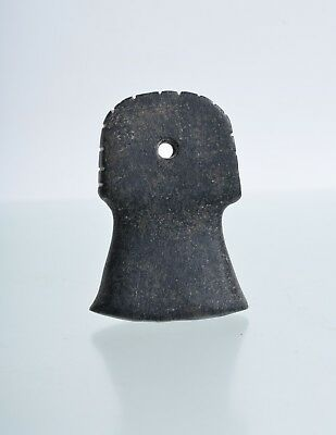 Reproduction Native American Indian artifact Smoking PIPE Black stone, carved