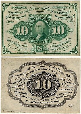 1862 10 Cents FRACTIONAL 1st Issue Washington FR.1242 10¢ No Reserve!