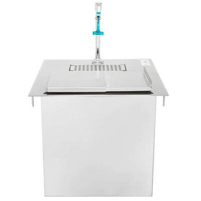 "21"" x 18"" Stainless Steel Drop In Counter Water Station Ice Bin Commercial"