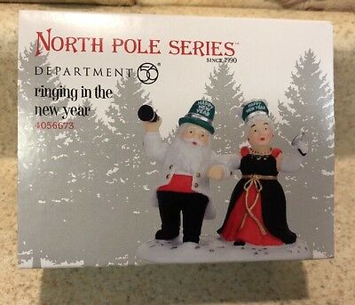 Dept 56 North Pole Village Ringing In The New Year 4056673 NIB