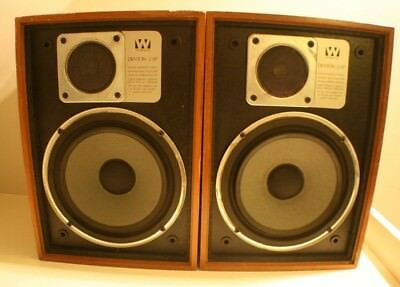 British Wharfedale Denton 2XP Vintage Hifi Bookshelf Speakers 6 Ohm 25W Retro