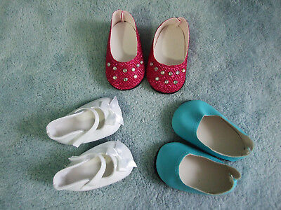 "3pr DOLLS SHOES / Our Generation~American Girl~ Baby Born & other 18"" Dolls s2"