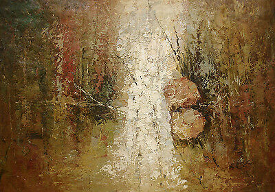 """Contemporary Oil Painting of Abstract - Harvest Time 24x36"""" Gallery Wrapped"""