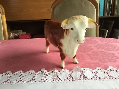 RARE Beswick Hereford Bull no 949 - Gloss Brown & white - excellent condition