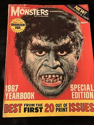 Famous Monsters Of Filmland The 1967 Yearbook Special Edition