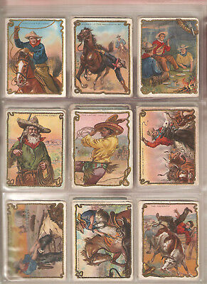 Rare Vintage Hassan cowboy tobacco cards T53 ca 1909-1912 full set of 49