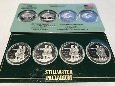 Johnson Matthey  Lewis & Clark Palladium  Bullion Coins 1/4 oz. Full Sheet 1OZ